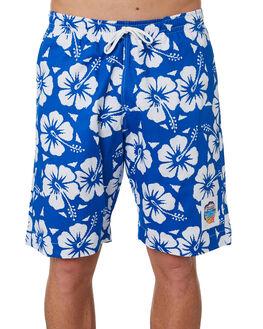 BLUE MENS CLOTHING OKANUI BOARDSHORTS - OKBOHBBUBLU