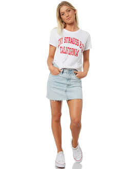 GOOD VARSITY WHITE WOMENS CLOTHING LEVI'S TEES - 29674-0009GVWHT