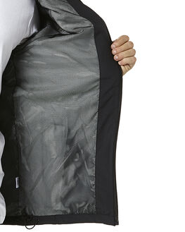 BLACK MENS CLOTHING RVCA JACKETS - R341434ABLK