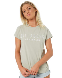 LIGHT KHAKI WOMENS CLOTHING BILLABONG TEES - 6581010LKHA