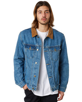 DENIM MENS CLOTHING SWELL JACKETS - S5184387DENIM