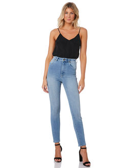 STACEY BLUE WOMENS CLOTHING ROLLAS JEANS - 130864671