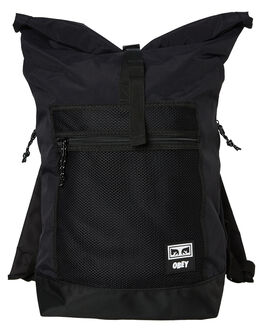 BLACK MENS ACCESSORIES OBEY BAGS + BACKPACKS - 100010106BLK