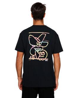 BLACK MENS CLOTHING RVCA TEES - RV-R191042-BLK