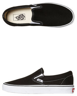 BLACK WOMENS FOOTWEAR VANS SNEAKERS - SSVN-0EYEBLKW