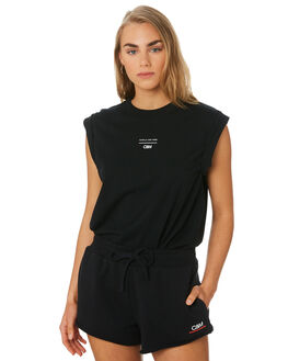 BLACK WOMENS CLOTHING C&M CAMILLA AND MARC SINGLETS - VCMT6992BLK