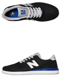 BLACK MENS FOOTWEAR NEW BALANCE SKATE SHOES - NM420BLR001