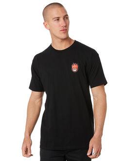 BLACK MENS CLOTHING SPITFIRE TEES - 51010388PBLK