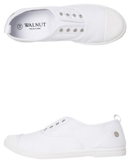 WHITE WOMENS FOOTWEAR WALNUT SNEAKERS - EUROWHT