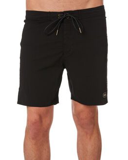 BLACK MENS CLOTHING DEUS EX MACHINA BOARDSHORTS - DMP92193BLK