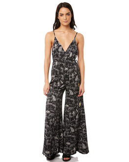 BLACK WOMENS CLOTHING TIGERLILY PLAYSUITS + OVERALLS - T381438BLK