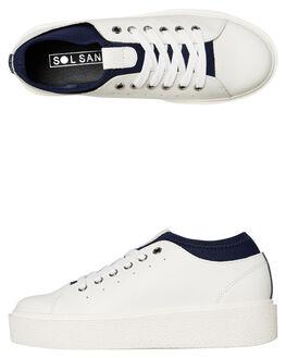WHITE NAVY WOMENS FOOTWEAR SOL SANA SNEAKERS - SS192W423WTNY