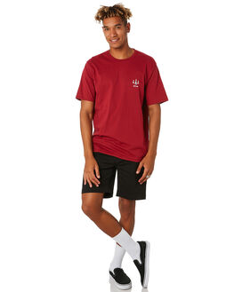 DULL RED MENS CLOTHING BARNEY COOLS TEES - 121-CC3DLRED