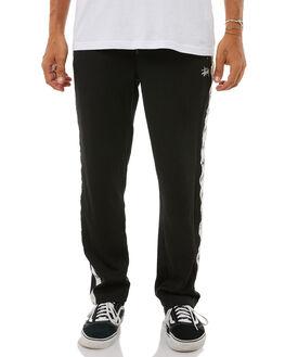 BLACK MENS CLOTHING STUSSY PANTS - ST085613BLK
