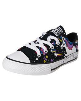 BLACK KIDS GIRLS CONVERSE FOOTWEAR - 765476CBLK