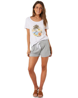 WHITE WOMENS CLOTHING SWELL TEES - S8184001WHITE