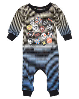 OATMEAL BLUE KIDS BABY ROCK YOUR BABY CLOTHING - BBB1916-SLOATBU