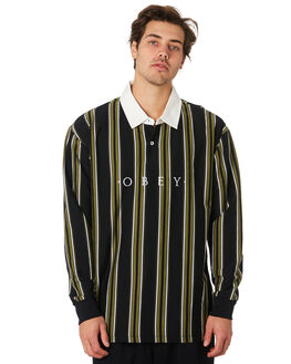 BLACK MULTI MENS CLOTHING OBEY SHIRTS - 131040014BLKML