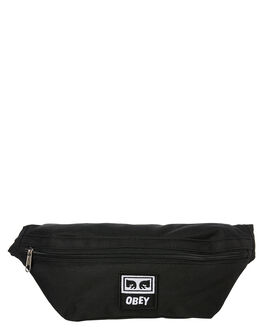BLACK MENS ACCESSORIES OBEY BAGS + BACKPACKS - 100010100BLK