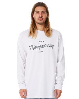 WHITE MENS CLOTHING RPM TEES - 8WMT08AWHT