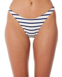 NAVY BRETON OUTLET WOMENS SOLID AND STRIPED BIKINI BOTTOMS - WS-2020-1427NVBRT