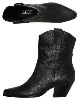 BLACK WOMENS FOOTWEAR SOL SANA BOOTS - SS192W400BLK