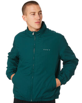 DARK TEAL MENS CLOTHING OBEY JACKETS - 121800338DRKTL