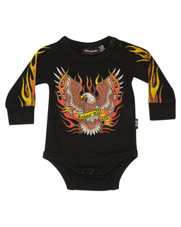 BLACK KIDS BABY ROCK YOUR BABY CLOTHING - BBB1912-RHBLK
