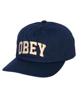 NAVY MENS ACCESSORIES OBEY HEADWEAR - 100570091NVY