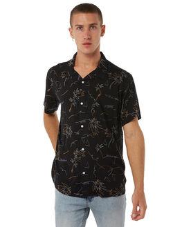 BLACK MENS CLOTHING STUSSY SHIRTS - ST085410BLK