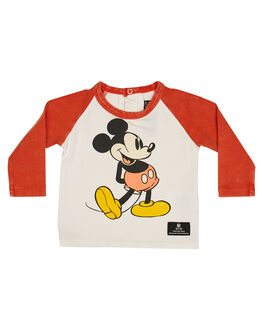 CREAM RED KIDS BABY ROCK YOUR BABY CLOTHING - BBT198-MICRMRD