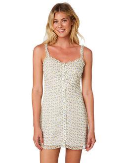 SUNFLOWER PRINT WOMENS CLOTHING LULU AND ROSE DRESSES - LU23693MLT