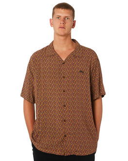 BLACK MENS CLOTHING STUSSY SHIRTS - ST091401BLK