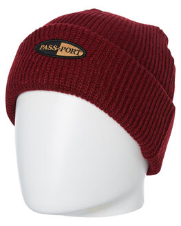 BURGUNDY MENS ACCESSORIES PASS PORT HEADWEAR - PPPHARMBNURG