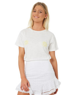 WHITE OUTLET WOMENS TEE INK TEES - VAW1007WHT