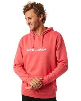 VINTAGE RED MENS CLOTHING BANKS JUMPERS - WFL0133VTR