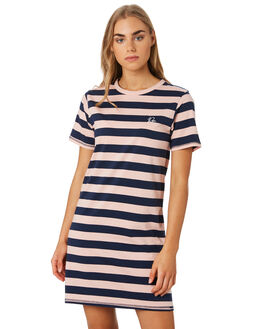 NAVY PINK WOMENS CLOTHING RPM DRESSES - 9PWD01ASTR