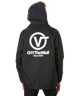BLACK MENS CLOTHING VANS JACKETS - VNA3HOUTSZBLK