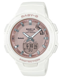 WHITE ROSE GOLD WOMENS ACCESSORIES BABY G WATCHES - BSAB100MF-7AWHIRG