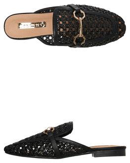 BLACK WOVEN WOMENS FOOTWEAR BILLINI FLATS - F426BLK