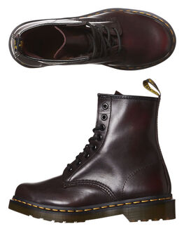 RED VINTAGE WOMENS FOOTWEAR DR. MARTENS BOOTS - SS11821602REDW