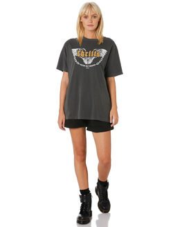 MERCH BLACK WOMENS CLOTHING THRILLS TEES - WTH9-121MBMBLK