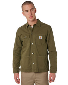 ROVER GREEN MENS CLOTHING CARHARTT JACKETS - I024849RGRN