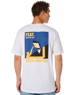 WHITE OUTLET MENS FEAT TEES - FTSMOO01WHT