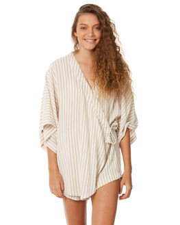 STRIPE WOMENS CLOTHING ZULU AND ZEPHYR PLAYSUITS + OVERALLS - ZZ2102STR
