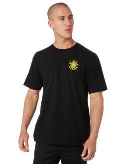 BLACK MENS CLOTHING SPITFIRE TEES - 51010628BLK