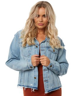 RECKLESS BLUE WOMENS CLOTHING THRILLS JACKETS - WTDP-203EBLU