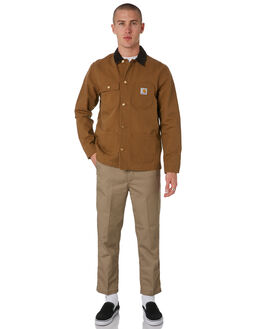 HAMILTON BROWN MENS CLOTHING CARHARTT JACKETS - I025146HBRN