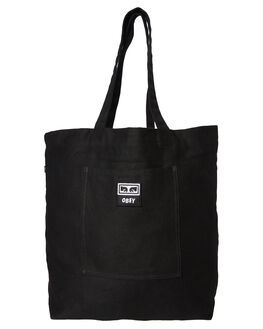 BLACK TWILL MENS ACCESSORIES OBEY BAGS + BACKPACKS - 100010103BLK