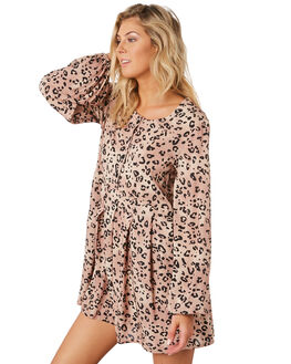 LEOPARD WOMENS CLOTHING SWELL DRESSES - S8194441LEOPD